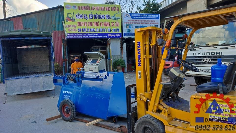 Giao máy bẻ đai về Bắc Giang 17/07/2021